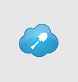 Blue cloud shovel icon vector image vector image