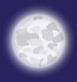 cartoon moon in the night sky vector image