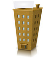 Cartoon residential building vector image