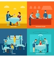 Catering service 4 flat icons square vector image vector image