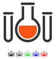 chemical vessels flat icon vector image vector image