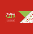 christmas sale banner template shop now vector image