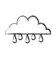 cloud rain water climate weather image vector image vector image