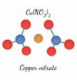 Copper nitrate CuN2O6 molecule vector image vector image