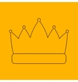 Crown line icon vector image