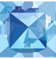Crystal Seamless 3D Geometric background vector image