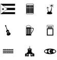 cuba icon set vector image vector image