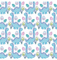 cute apatosaurus pattern background vector image