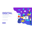 digital technologies landing page template vector image vector image