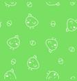 doodle chicken pattern vector image