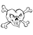 draw evil heart on white vector image vector image