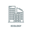 ecology line icon linear concept outline vector image vector image