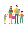 family happy day for people vector image vector image