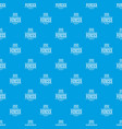 fence quality pattern seamless blue vector image vector image