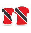 Flag shirt design of Trinidad and Tobago vector image vector image