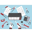 flat electronic repairs vector image