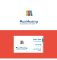 flat files logo and visiting card template vector image vector image