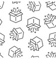 gift box icon seamless pattern background magic vector image vector image