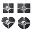 giftbox set collection black and silver vector image vector image