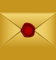 gold envelope vector image vector image