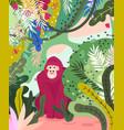 gorilla flat hand drawn vector image vector image