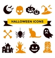 Halloween icons set vector image vector image