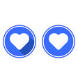 heart round flat icon vector image vector image