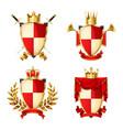heraldic shields set vector image vector image