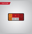 isolated taillight flat icon headlight vector image vector image