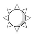 line natural sun and normal weather icon vector image