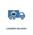 loundry delivery icon creative two colors design vector image vector image