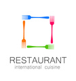 Lovely food logo template