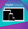 modern digital devices sets geometric background vector image