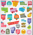modern sale banners and labels colorful collection vector image vector image