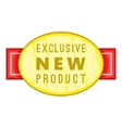 New exclusive product label icon cartoon style vector image vector image