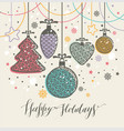new years toys greeting card for christmas vector image