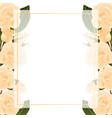orange rose banner card border vector image vector image
