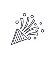 party flapper line icon concept party flapper vector image vector image