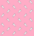 pattern white hand drawn unicorn on pink vector image vector image