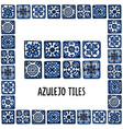 portugal landmarks set portuguese tiles azulejo vector image vector image