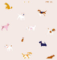 puppies dog seamless pattern in breed vector image vector image