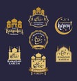ramadan kareem badge or label collection vector image vector image