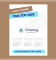 real estate website title page design for company vector image