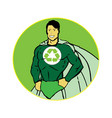 recycle man concept vector image