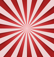 red and white sunbeam vector image
