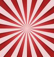 red and whitel Sunbeam vector image