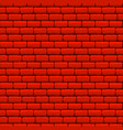 red brick wall seamless texture vector image vector image