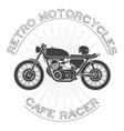 retro motorcycle caferacer logo vector image