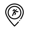 runner athlete geolocation icon outline vector image vector image