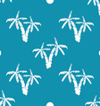 Seamless pattern background with hand drawn palm vector image